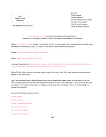 Pink day media and print templates proven winners media advisory template pronofoot35fo Choice Image